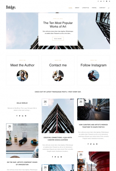 Bridge Lifestyle WP FREEmium Theme Series