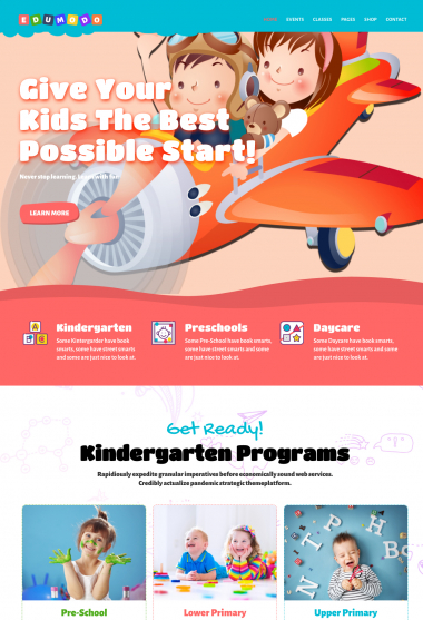 Edumodo Kids WP FREEmium Theme Series