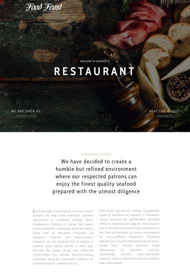 Good Resto Ecommerce WP FREEmium Theme Series