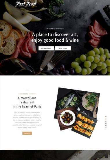 Good Resto H5 Ecommerce WP FREEmium Theme Series