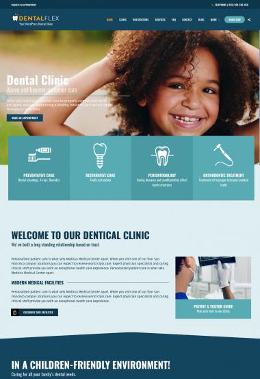 Healthflex Dentist WP FREEmium Theme Series