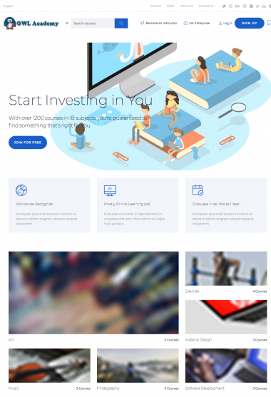 Master Academy Lt WP FREEmium Theme Series