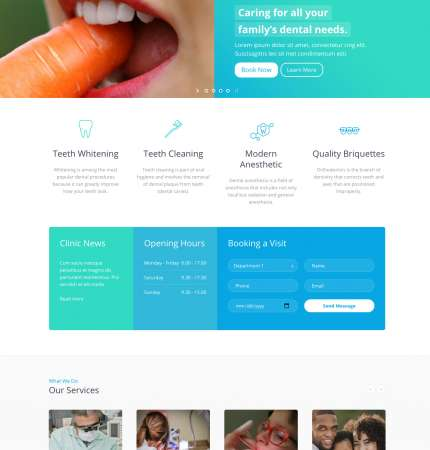 Dental Clinic WP FREEmium Theme Series