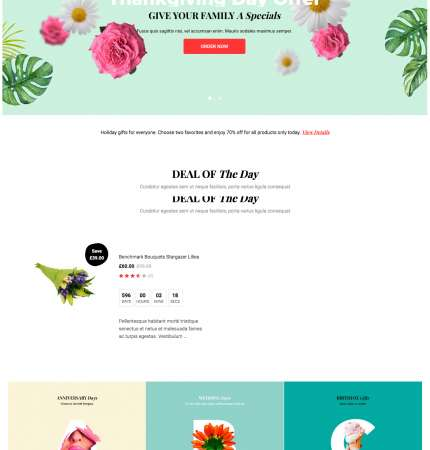 Greenmart Flower WC-2 FREEmium Theme Series