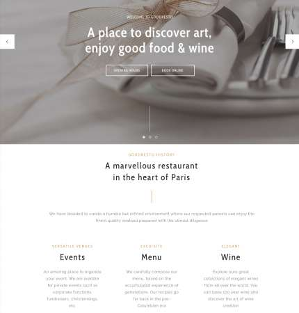 Good Resto H4 Ecommerce WP FREEmium Theme Series