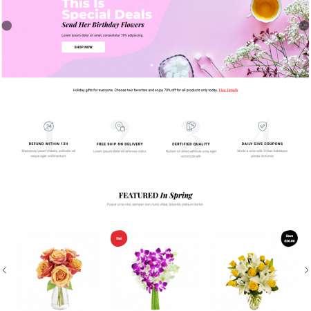Greenmart Flower WC-1 FREEmium Theme Series