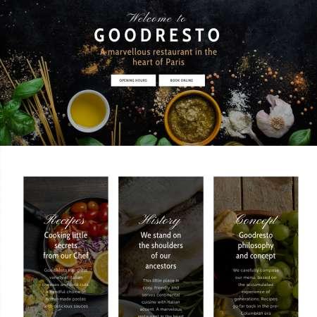 Good Resto H5 Ecommerce WP FREEmium Theme Series