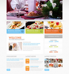 Drupal Restaurant Website 47585