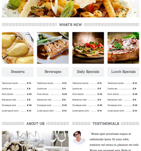 Drupal Restaurant Website 49236