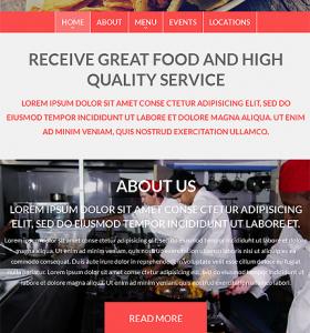 Drupal Restaurant Website 51203