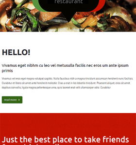 Drupal Restaurant Website 52972
