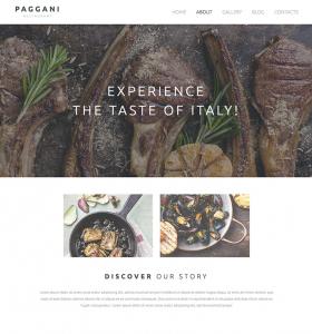 Restaurant Website WP 55262