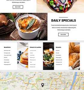 Restaurant Website WP 55438