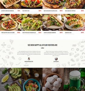 Restaurant Website WP 59006