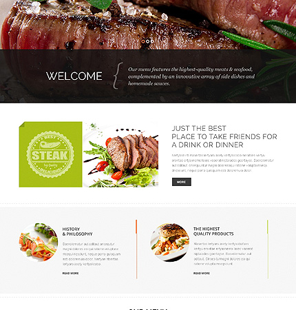 Drupal Restaurant Website 48403