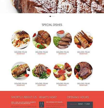 Drupal Restaurant Website 48912