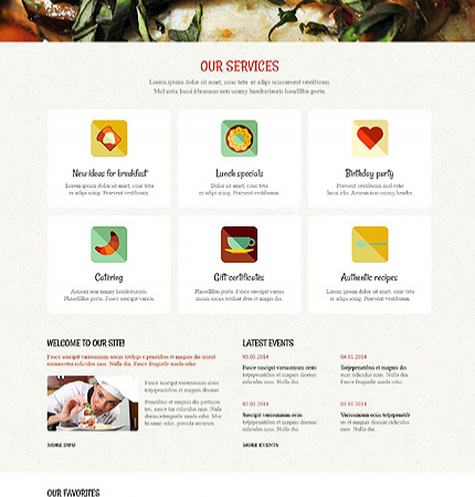 Drupal Restaurant Website 52590