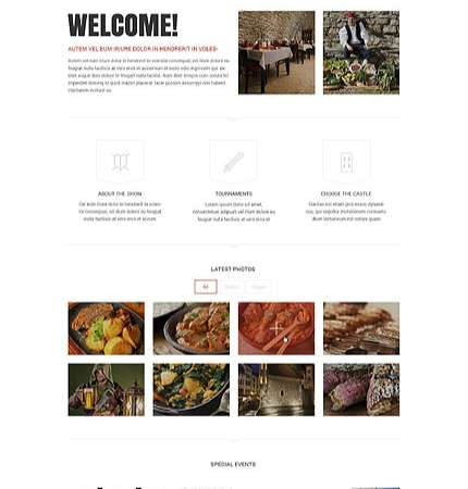 Drupal Restaurant Website 52819