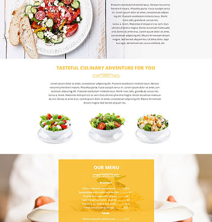 Drupal Restaurant Website 53895