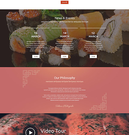 Drupal Restaurant Website 54603