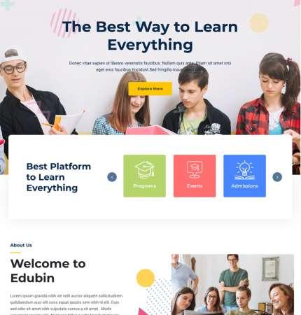 Edubin H2 WP FREEmium Theme Series