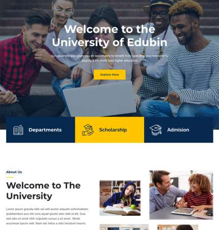 Edubin H5 WP FREEmium Theme Series