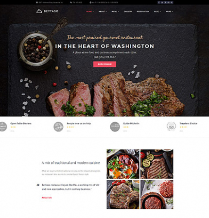 Restaurant Website WP 58667