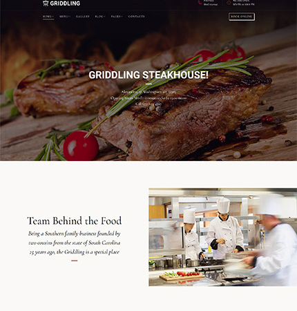 Restaurant Website WP 63410