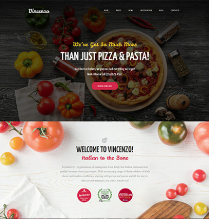 Restaurant Website WP 63633