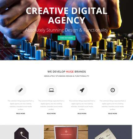 Bridge Agency WP FREEmium Theme Series | Bridge Agency WP-01-1MS-Mini-2