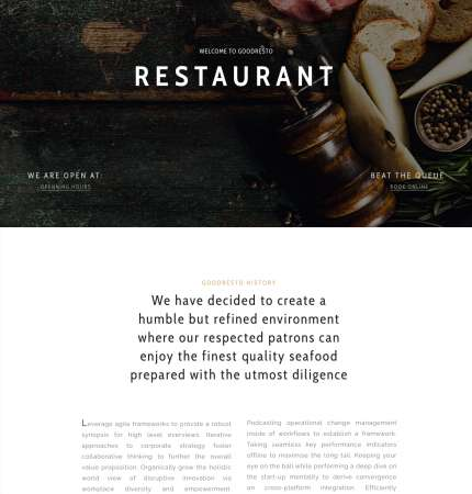 Good Resto Ecommerce WP FREEmium Theme Series